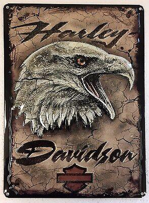 Ande Rooney HARLEY DAVIDSON EAGLE CARD Tin HD Motorcycle Garage Man Cave Sign