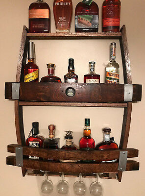 Whiskey/Wine Barrel Wine Rack ()