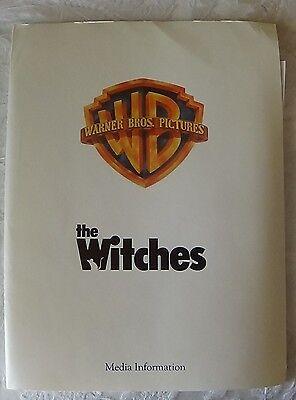 THE WITCHES ~ 1990 Press Kit Anjelica Houston VERY RARE Nicholas Roeg Zetterling