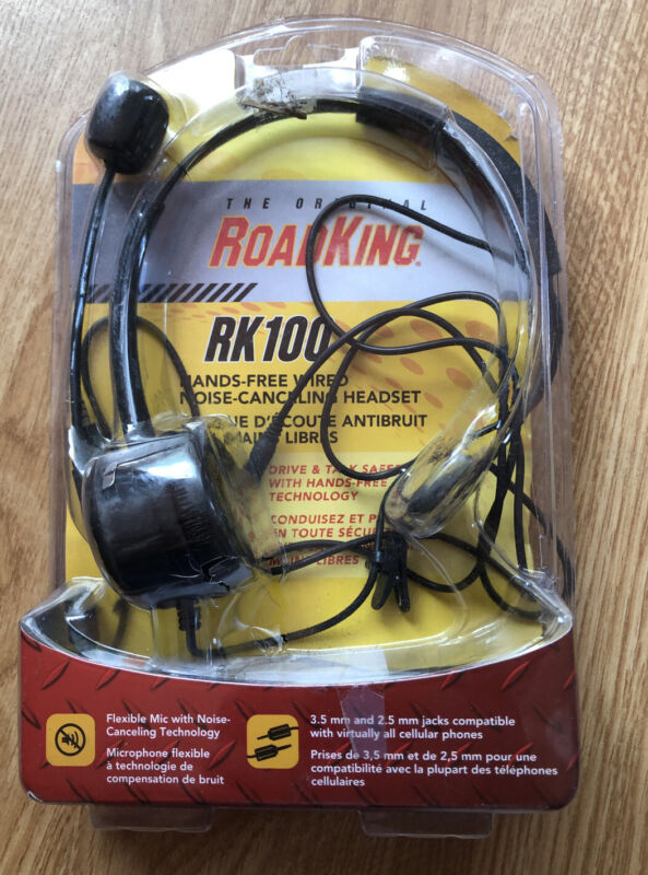 The Original RoadKing RK100 Hands-Free Wired Noise-Cancelling Headset Open Box