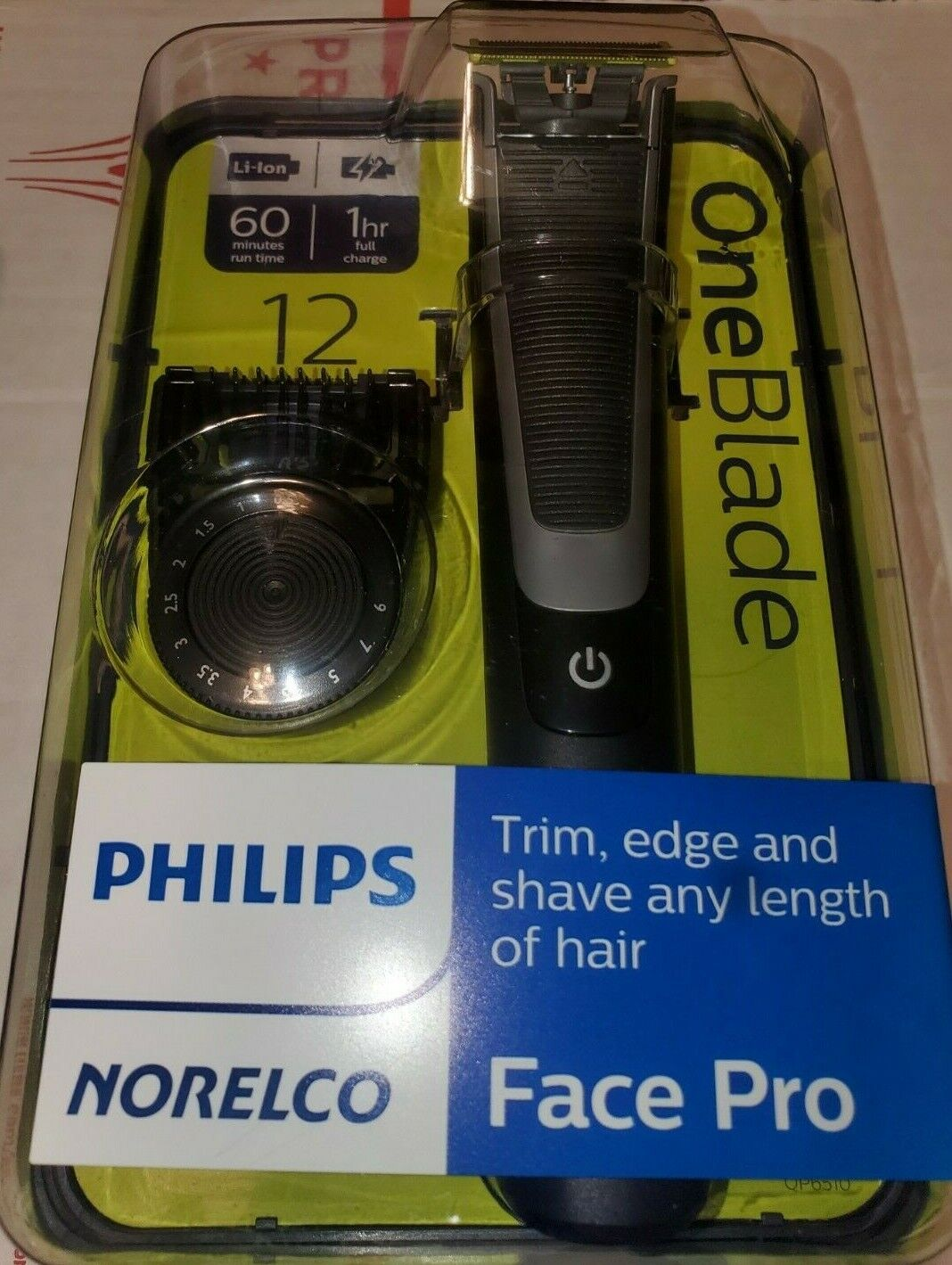NEW PHILIPS NORELCO ONEBLADE FACE PRO Hybrid Electric Trimme