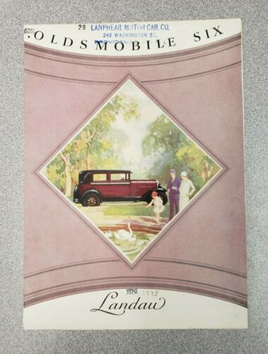 1928 Oldsmobile Six Landau Sales Folder