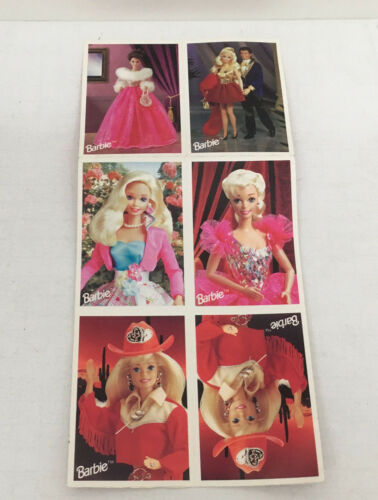 1997 Barbie valentine classroom trading cards 10 card sheet hallmark cards