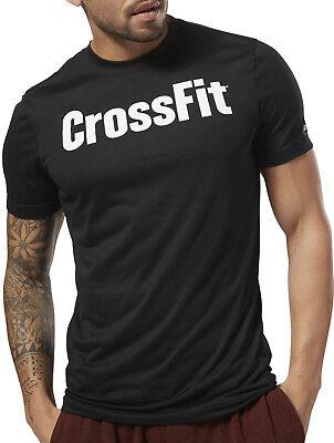 (Reebok Crossfit Speedwick F.E.F Mens Short Sleeve Training Top - Black)