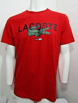 Lacoste Sport Mens Crew-Neck T-Shirt Size 5/large  Red Regular-Fit  Nwt