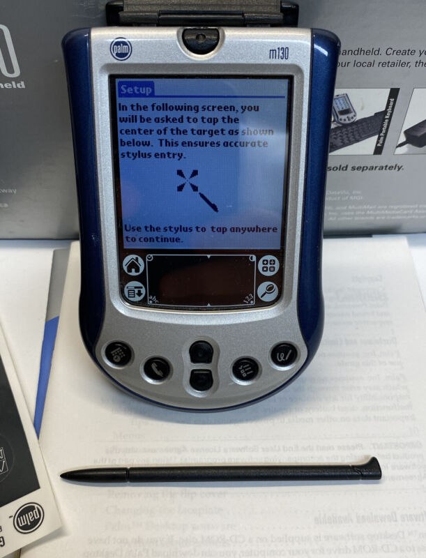 Palm m130 Handheld with stylist, accessories, original box, charger and Software