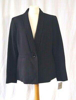 Kasper Black Stripe Jacket Size 16 UK Smart Blazer Work RRP $119
