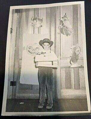 Vintage Snapshot Photo 1940 Cowboy Halloween Costume, Halloween Decorations - Halloween 1940
