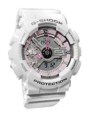 Casio GMAS110MP-7A G-Shock DIGITAL White PINK Unisex Watch