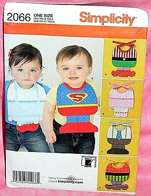Simplicity Infant Halloween Costume Patterns (Uncut Simplicity Baby Bib Costumes Pattern 2066 Halloween Superman Ballerina)