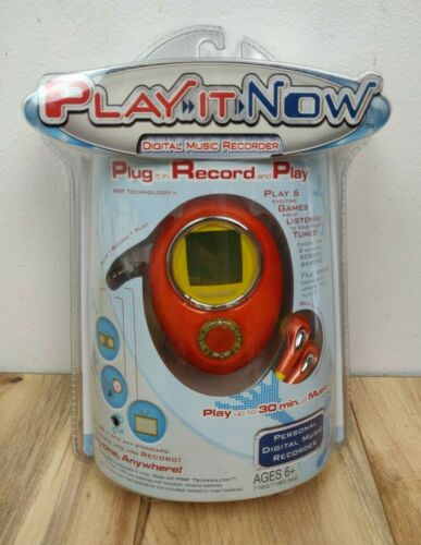 Tigers Electronics 2004 New PLAY IT NOW Music Player Sealed Digital Recorded