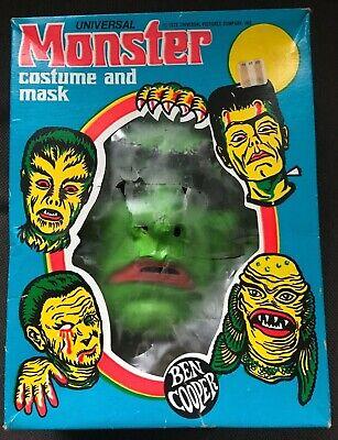 Rare 1973 Vintage Ben Cooper FRANKENSTEIN Monster Halloween Costume & Mask & Box