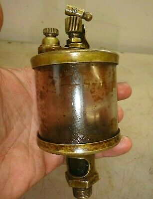 No. 4 Size Oiler For Ihc Famous Titan Or Mogul Gas Engine Old Brass Lubricator