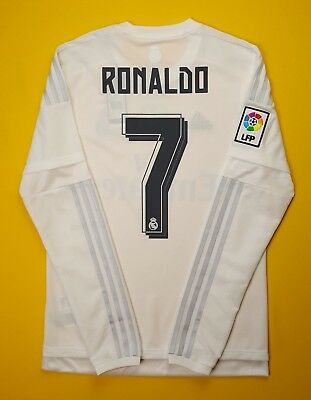 d1266a6d3e8 5+ 5 Ronaldo Real Madrid jersey SMALL 2015 2016 long sleeve shirt AK2495  Adidas