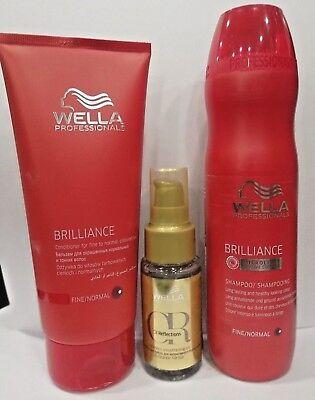 Wella Shampoo Brilliance + Conditioner Brilliance + Oil Reflection Per Capelli