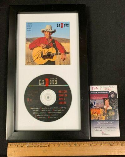 CHRIS LEDOUX COUNTRY SINGER HAND SIGNED AUTO CD BOOKLET W/CD FRAMED JSA/COA