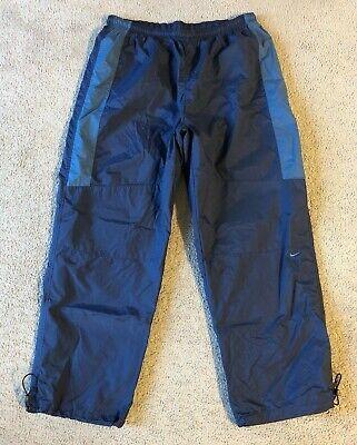 Nike Men's Navy Blue Nylon Athletic Training Warm Up Pants - Size XL