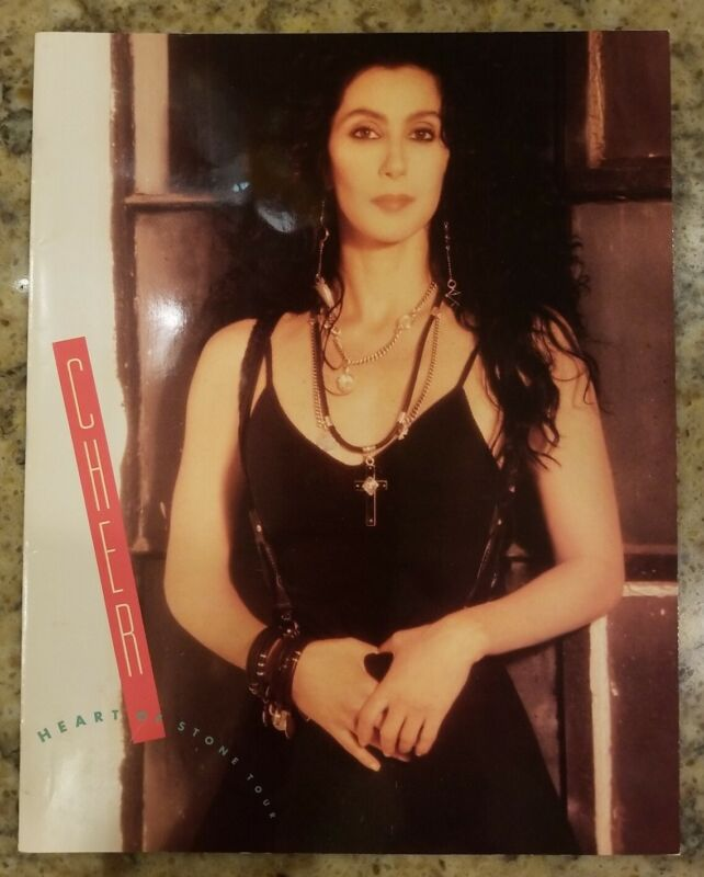 Cher Heart Of Stone 1989 Tour Book Program - Nice Condition