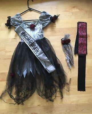 Prom Queen Zombie Costume (Girls Zombie Prom Corpse Queen Halloween Costume size)
