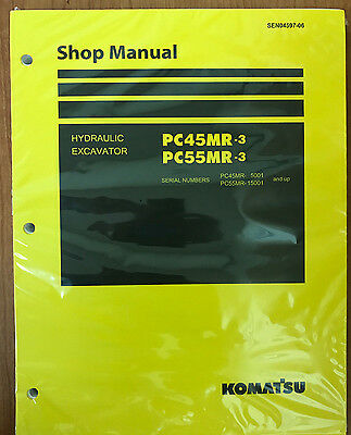 Komatsu Service Pc45mr-3 Pc55mr-3 Excavator Shop Manual New 1