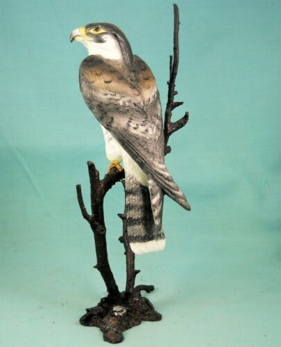 Royal Worcester Birds of Prey Peregrine Falcon Porcelain and Bronze