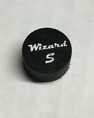 Wizard Black Soft Pool Cue Tips 14mm Quantity 1 Tip