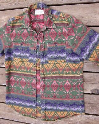 Polo Ralph Lauren Denim & Supply Southwest Aztec Native Heavy Woven Shirt Mens M