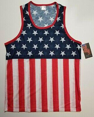 Originals Men's American Flag Tank Top Stars Stripes Patriotic 4th July NWT M L