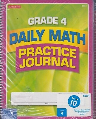 (Daily Math Practice Journal Grade 4 Set of 10 Lakeshore Learning #EE974)
