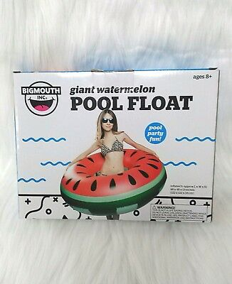 Bigmouth Giant 4 Ft Watermelon Slice Inflatable Swimming Pool Float Raft Tube