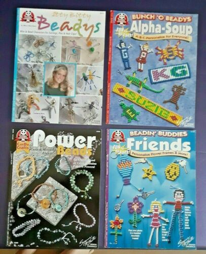 Lot of 4 Beading Craft Project Pattern Instruction Leaflet from Design Originals