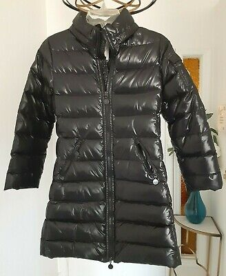 Moncler Enfant Jacket Girls Size 10 Black Puff Long