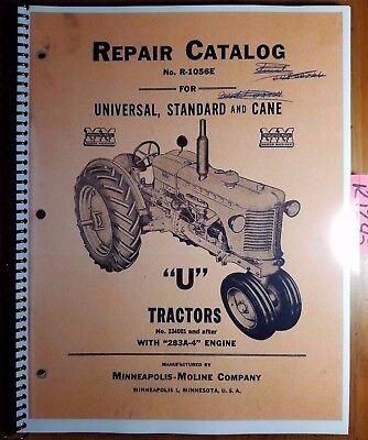 Minneapolis-moline U Utu Uts Utc Utn Tractor 334001- Repair Parts Manual R-1056e