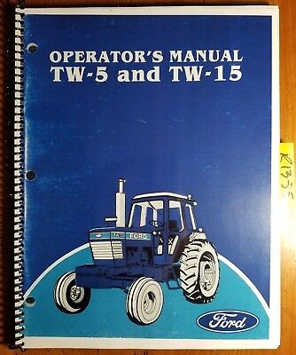 Ford Tw-5 Tw-15 Tractor 1983-84 Owners Operators Manual Se 4050 3835 42000520