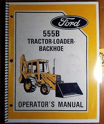 Ford 555b Tractor Loader Backhoe 1985-87 Owners Operators Manual Se 4436 685
