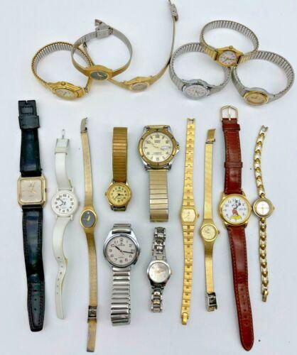 Lot of 17 LORUS Watches - Steel/Leather, Modern, Quartz, Men