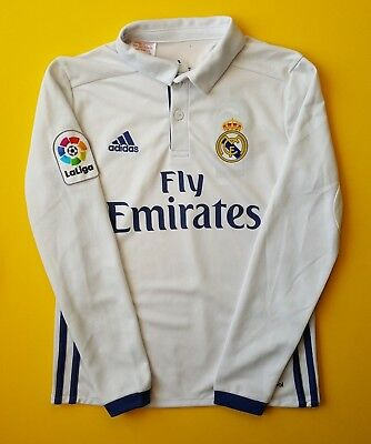 10012a21a 5 5 Real Madrid kids jersey 2016 2017 shirt 9-10 years AI5190 soccer Adidas