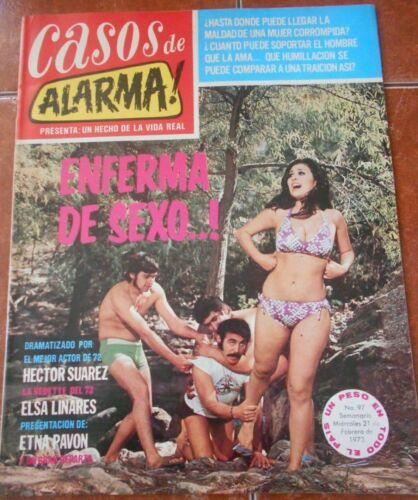 CASOS photonovel magazine HECTOR SUAREZ sexy women DANGER ELSA LINARES vedette
