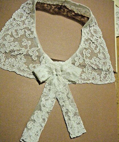 Antique Collar Alencon lace combo w bow  Alencon lace h done France