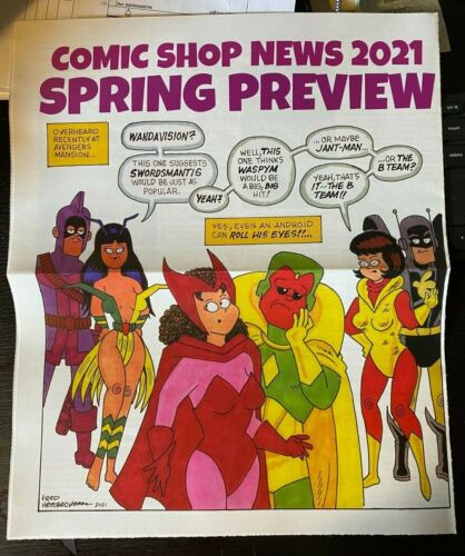 COMIC SHOP NEWS 2021 SPRING PREVIEW FRED HEMBECK ART WANDAVISION AVENGERS B-TEAM
