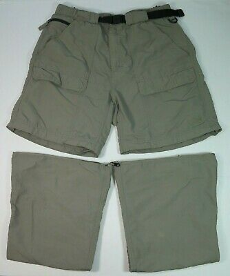 0d328f6bad The North Face Men's Nylon Green Belted Outdoors Convertible Shorts Pants  Large