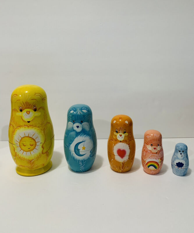 Care Bears Nesting Dolls by American Greetings Complete Set 2003 Matryoshka