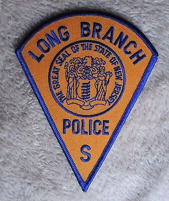 """Long Branch Police Dept Shoulder Patch - New Jersey - 4 1/8"""" x 5 1/4"""""""