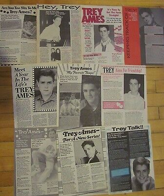Trey Ames, Lot of TEN Full Page Vintage Clippings