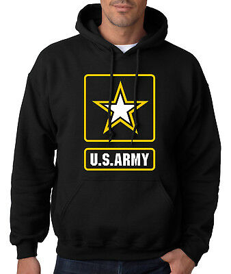 Army Logo Hooded Sweatshirt - ARMY LOGO HOODIE United States Military Hooded Sweatshirt Usarmy Ranger US USA