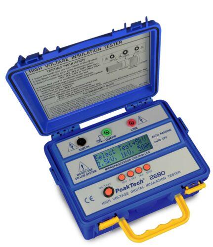 Peaktech P2680 5kV Insulation Tester Megohmmeter 5000V 300GΩ