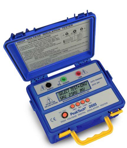 Peaktech P2685 10kV Insulation Tester Megohmmeter 600GΩ 10kV Megger