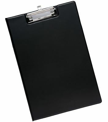 Fold Over Clip Board A4 Size Black Foldover Clipboards & Pen Holder