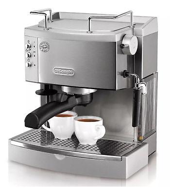 DeLonghi Stainless Steel Espresso Maker Retreat Electric Coffee Machine EC 702