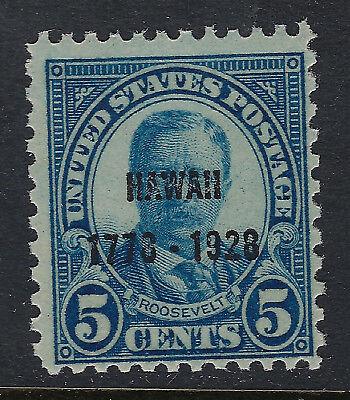 SCOTT 648 1928 5 CENT HAWAII SESQUICENTENNIAL ISSUE MNH OG F-VF CAT $15!